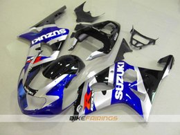 Wholesale Silver Blue Gsxr Fairings - 3 Gifts New Moto body kits for 2000 - 2002 SUZUKI GSX-R1000 K2 fairing kit GSXR1000 00 01 02 GSXR 1000 fairings bodywork silver black blue