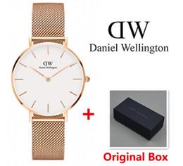 Wholesale Top Lady Nude - New Daniel watches Famous Brand Women Watches Top Brand Luxury Business Quartz-watch Clock Steel Strap Ladies Wristwatch Relogio Feminino
