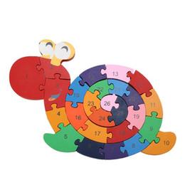 Canada Enfants Puzzle Jouet Enroulement Escargot Jouet En Bois Enfant Early Education Casse-tête Jeu 3D Puzzle En Bois Brinquedo Madeira Jigsaw Casse-tête Offre