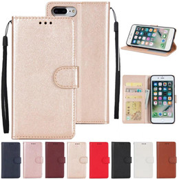 Wholesale Lg Pocket Photo - Wallet PU Leather Case Wallet Back Cover Pouch with Card Slot Photo Frame For iPhone 8 7 6 6S 5 5S Plus LG K4 K8 K10 2017 OnePlus 5