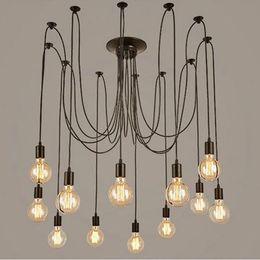 luzes de tira led comercial Desconto Modernas luzes do vintage lustre pendant titular grupo de iluminação Edison diy lâmpadas de iluminação lanternas acessórios mensageiro fio