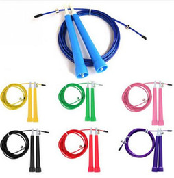 Wholesale Crossfit Speed Ropes Wholesale - Adjustable skipping rope 3M Speed Steel Wire Skipping Jump Rope Crossfit Crossfit MMA Box Gome Gym Fitnesss Equipment