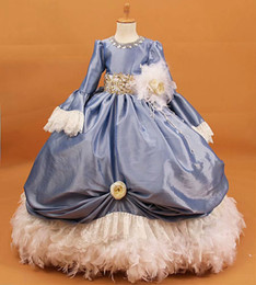 Wholesale Party Dress For Baby Winter - F26 long sleeves winter ball gowns flower girls dresses for weddings Baby Party Dress kids prom dresses evening gowns 2017