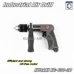 Wholesale Pneumatic Drill Gun - KG-130-2D NEW 1 2 Heavy Duty Keyless Reversible Air Drill   Industrial Gun Type Pneumatic Drill(Oil-free motor)