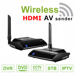 Wholesale Video Transmitters - PAT-580 5.8GHz Wireless Video Transmitter Receiver HDMI AV Audio Video Sender Receiver 300M Adapter With IR Remote Extender for PC TV Box DV