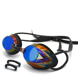 Wholesale Electroplated Goggles - 2017 New Professional Swim Goggles Adjustable Electroplating Water Resistant Anti-fog UV Protection Swimming Goggle Free Shipping