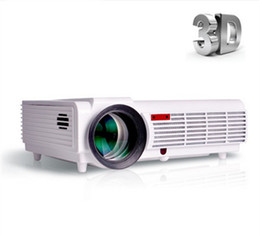 Wholesale Lamp Led Max - Wholesale-2 color Luxury Brightness Max 5500 Lumens Long life LED lamp Full HD LED home cinema projector 3D lcd Multimedia video Projector