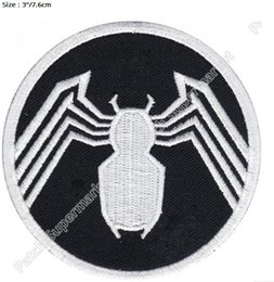 "Wholesale Marvel Amazing Spiderman - 3"" Marvel Comics The Amazing Spiderman Venom's Logo Iron on Patches TV Movie series Comic Embroidered badge costume cosplay"