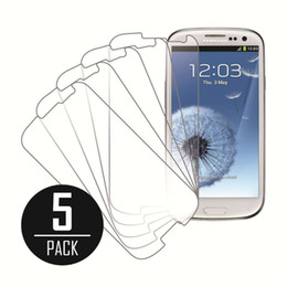 Wholesale S3 Screen Protector Packaging - New Samsung Galaxy S3 Screen Protector Clear Screen Protector Shield for Samsung Galaxy S3 Non-Retail Packaging Pack of 5 Free Shipping