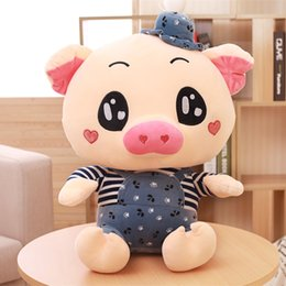 Wholesale Pig Cute Love - Plush toy pig pig large sleeping pillow doll cute love doll birthday girl Papa pig