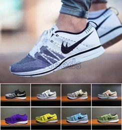 """Wholesale Shoes Tick - 2017 new knit Trainer Retro OG Running Shoes for Mens Womens Brand """"Tick"""" Yin-Yang Flying Wire Breathable Shoes Size 36-45 Free Shipping"""