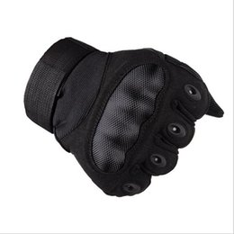 Wholesale Wearing Baseball Glove - Wear-resistant Full Finger Military Hunting Gloves Hard Shell Tactical Gloves Outdoor protection Bicycle Sports Mittens Gym Gloves Sport