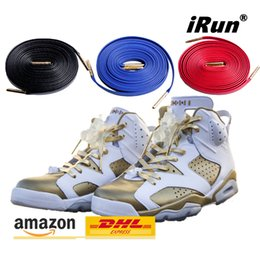 Wholesale Metal Shoe Soles - 7MM Flat Dress Shoes Metal Tipped Italian Sheepskin Leather Shoelaces Lace Shoe Boot Goatskin Laces All size - DHL FREE SHIPPING
