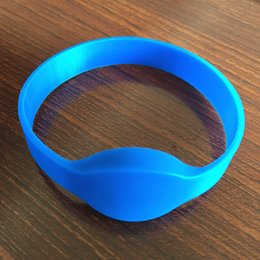 2019 pulseiras rfid 125khz Atacado-DHL Frete grátis 125khz em4100 pulseira rfid de silicone à prova d 'água desconto pulseiras rfid 125khz