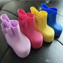 Wholesale Raining Boots For Kids - Rubber Boots for Grls Hotsale Kids Rain Boots Mini Melissa Girls Rainboots Cute Bow Baby Rubber Rainboots For Girls 25-29 Pvc