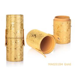 Новый список косметики кисти трубки трубки хранения трубки искусственная кожа стильный портативный ящик для хранения от