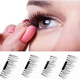Wholesale Mink Eyelashes Glue - Beauty Faux Mink Eye Lashes False Eyelashes 3D Magnetic 4pcs False Eyelashes No Glue Handmade Natural Extension Eye Lashes