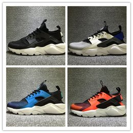 Wholesale Breathe Design - 2017 New Design Air Huarache 4 All Red Mesh Huraches Sneakers Ultra Breathe Men And Women Huaraches Running Shoes Size 36-45
