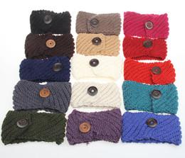 Wholesale Handmade Christmas Hair Accessories - Newest 2017 Knitted Hair Accessories Women Headbands 18 Colors Fashion Handmade Wool Crochet Headband 4650
