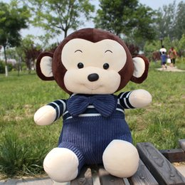 Wholesale Handmade Movies - 2017 New cute style handmade purified cotton fluffy monkey doll plush toy.