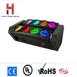 Wholesale laser lights moving heads - (2 pieces lot) chain moving head Dj lighting laser effect 8*10w rgbw 4in1 led spider beam moving head light