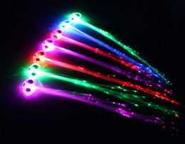 Wholesale Led Bar Products - Free Shipping hot product Christmas decorations LED headdress multicolored fiber flashing hairpin ball bar for each party
