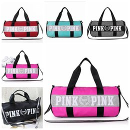Wholesale Striped Tote Bags - Canvas secret Storage Bag organizer Large Pink Men Women Travel Bag Waterproof Victoria Casual Beach Exercise Lage Bags