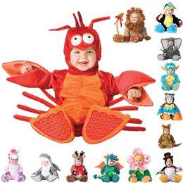 Wholesale Corduroy Dress Girls - Lovely Animal Halloween Outfit for Baby grow Infant Boys Girls Baby Fancy Dress Cosplay Costume Dinosaur Monster Lobster kangaroo