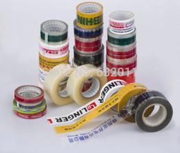 Wholesale Carton Sealing Packing Tape - Custom logo printing letter pattern trademark transparent clear colorized adhesive packing tape BOPP carton sealing tape