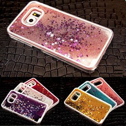 Wholesale Star Galaxy S3 - For Samsung Galaxy Note 2 3 4 5 S3 4 5 6 Liquid Sparkly Stars Case Cover Shell