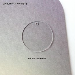 """Wholesale April 24 - Wholesale-(50pcs lot) 24 mm Clear Acrylic Circle Earrings With Hole Acrylic Disc Beads 14 15"""" -AC1065F"""