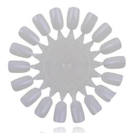 Wholesale Acrylic Art Display - Wholesale-10x Nail Art Tips Beauty Practice Round Wheel Polish Acrylic Display Decoration