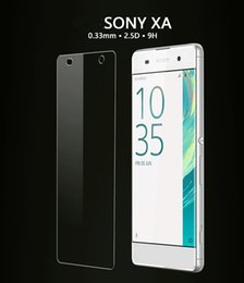 Wholesale Film Front Bags - 1pc retail glass film Sony Xperia XZ X Compact , X, XA, XA ULTRA the latest tempered glass screen protector clear 0.33mm 2.5 D just opp bags