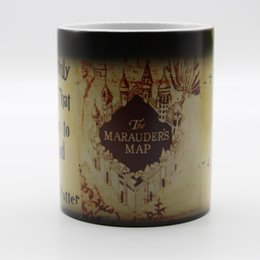 Wholesale Temperature Color Changing Coffee Mug - WHOLESALE Harry Potter Magical Color Changing Mug For Marauders Map Ceramic Cup Temperature Change Color Coffee Cup Gift