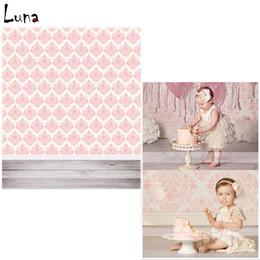 Wholesale Damask Photography Background - 5x7ft Damask Vinyl Photography Background Backdrops For Children Wood Floor Background for photo studio Free Shipping