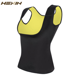Wholesale Workout Tank Tops Wholesale - Wholesale- HEXIN Neoprene Vest Waist Trainer Fajas Sweat Body Shaper Slimming Shapewear Tank Top Workout Corset Underbust Waist Trainer 6XL