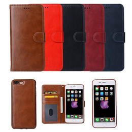 Wholesale Wholesale Leather Books - Wallet Case For Iphone 7 6 6s Plus Samsung S8 Leather Book Case 2in1 Multi-function Magnetic Detachable Cover for iphone7 Plus S8 plus