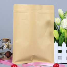 Wholesale Paper Line - 10*15 cm Food Moisture-proof Bags Kraft Paper with Aluminum Foil Lining Stand UP Pouch Ziplock Packaging Bag wa3681