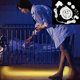 Wholesale Sensor Timer - New LED Bed Light Flexible Motion Sensor LED Strip Night Light Bedside Lamp with Automatic Shut Off Timer Sensor for Bedroom Cabinet Hallway