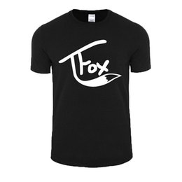 Wholesale Mens Graphic - Good Quality Brand Cotton Shirt Summer Style Cool Short Graphic Wishcart Tanner Fox O-Neck Mens Tees