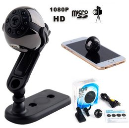 Wholesale Sport Camera Detection - SQ9 Mini camera 360 Rotating 1080P HD Sports camera Mini DV DVR Night Vision IR Motion Detection Video Recorder with retail box