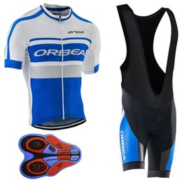 Wholesale Short Orbea - 2017 Orbea Men Short Cycling jersey & bib shorts set bicicleta Cycling jerseys maillot ciclismo hombre cycling bicycle bike clothing set