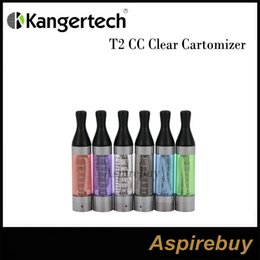 Wholesale Ego T2 Cartomizer - Kanger T2 CC Clear Cartomizer 2.4ML eGo Clearomizer Tank System with Replaceable Atomizer Heads works for eGo Series Batteries 100% Original