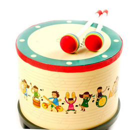 Wholesale Original Drum - 2017 hot The original single drum children's music toys baby hand drums early education toys free shipping