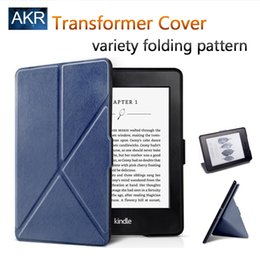 Wholesale Kindle Paperwhite Pink - Wholesale-Fashion PU Leather Case for Kindle Paperwhite Stand Cover Variety Folding Pattern AKR 2016 New Arrival Free Gift Free Shipping