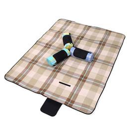 Wholesale Foam Sleeping Pads Camping - Wholesale- New Outdoor Picnic Mat waterproof Aluminum Film Tent Sleeping Pad Foldable Beach Camping mat blanket Cushion 170*130cm