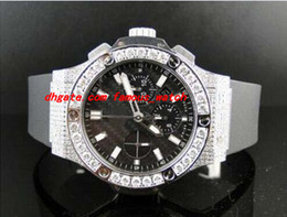 Wholesale evolution watch - Luxury Watches Mens Brand New Bang 44Mm Evolution Rubber Band Diamond Watch 10 Ct MAN WATCH Wristwatch