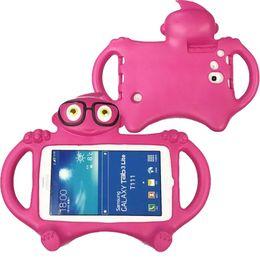 Wholesale 3d Case For Ipad - For iPad EVA Case 3D Cartoon Kids Bumper Handle Cover for iPad Mini 2 3 4 Samsung Tab P3200 3 4 T230 Opp