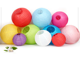 Wholesale Chinese Lantern Charm - Charmed Paper Lanterns 14 '' (35cm) - Rice Paper Chinese   Japanese Hanging Decorations - For Home Decor Wedding Party Child DIY Painted