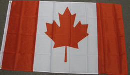 Wholesale Canadian Flags - CANADA FLAG CANADIAN MAPLE LEAF BANNER City Country banner Flag Custom Football Hockey Baseball any Team House Divided Flag